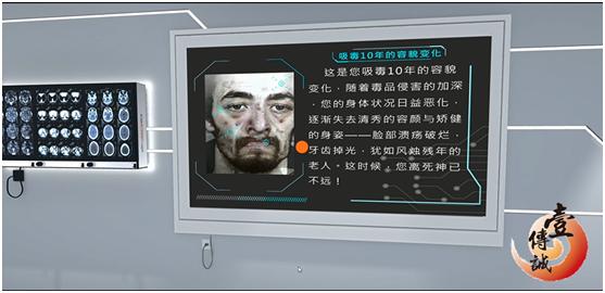 VR禁毒之吸毒后容貌变化模拟